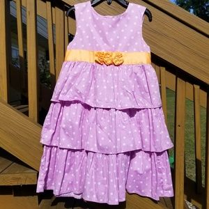 Carter's Polkadot Tiered Dress Girls Size 6 Purple